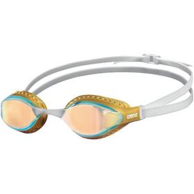 arena Airspeed Mirror Occhiali Da Nuoto, bianco/oro